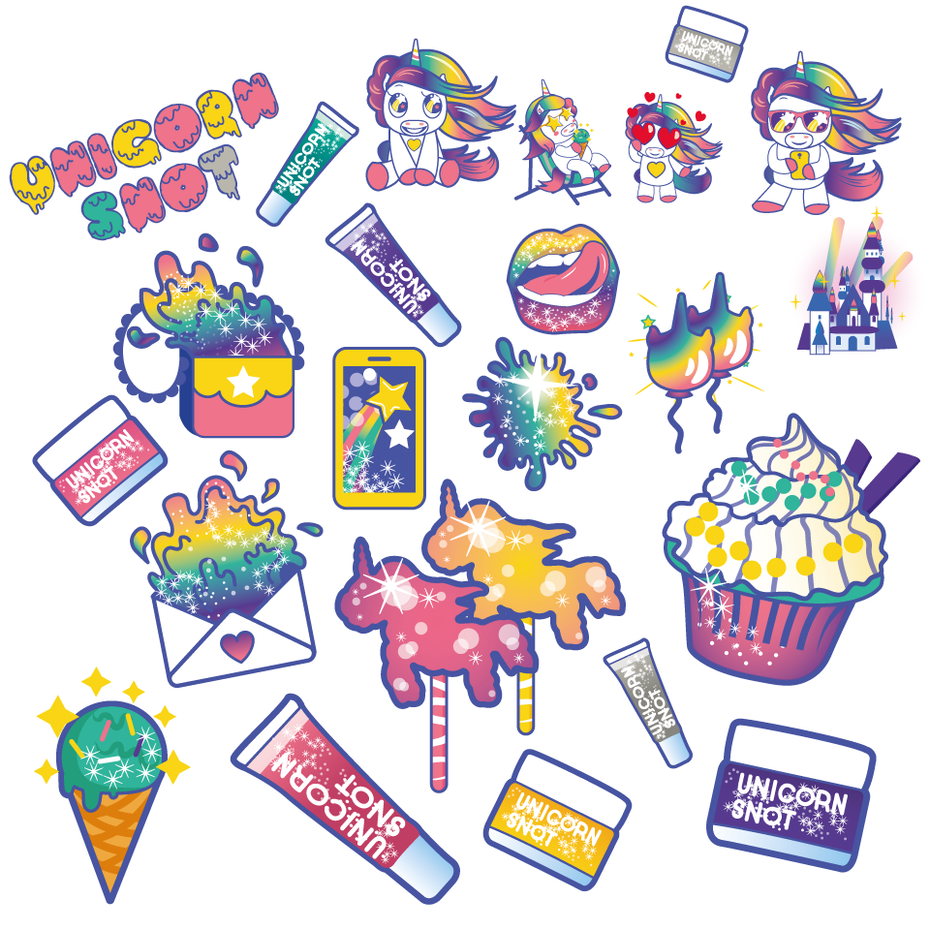Rainbow sticker set