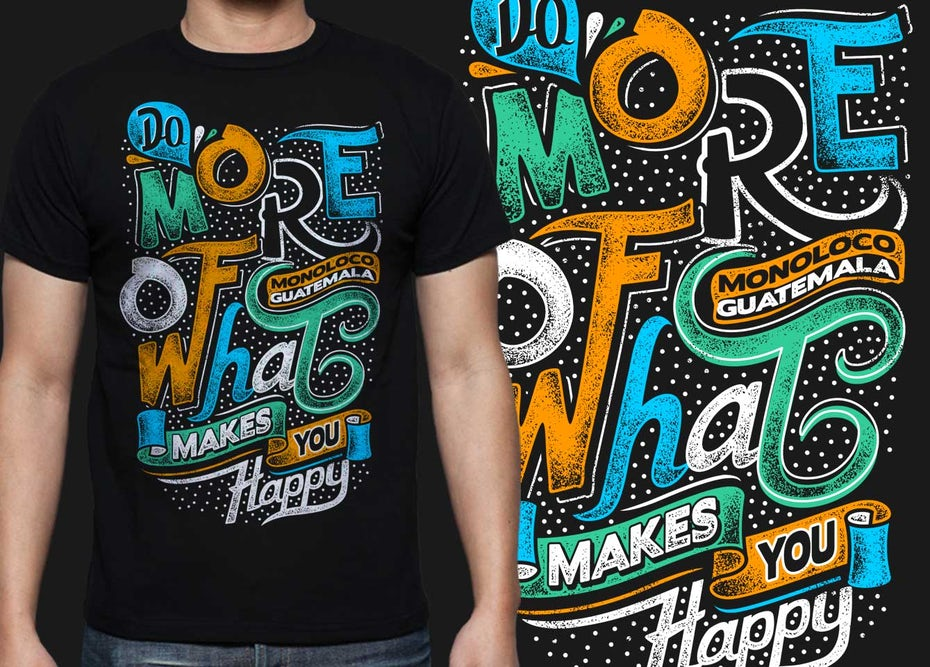 Typography design for T-shirt