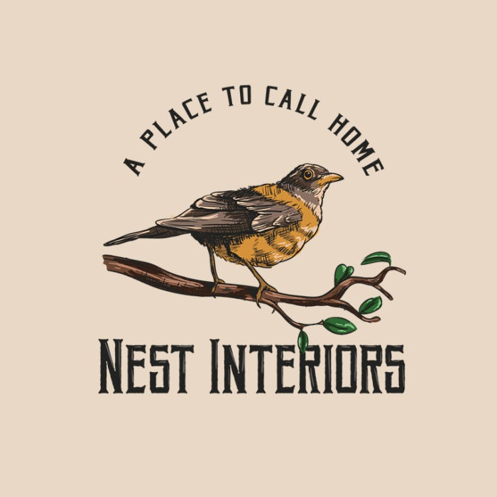 handdrawn vintage bird logo
