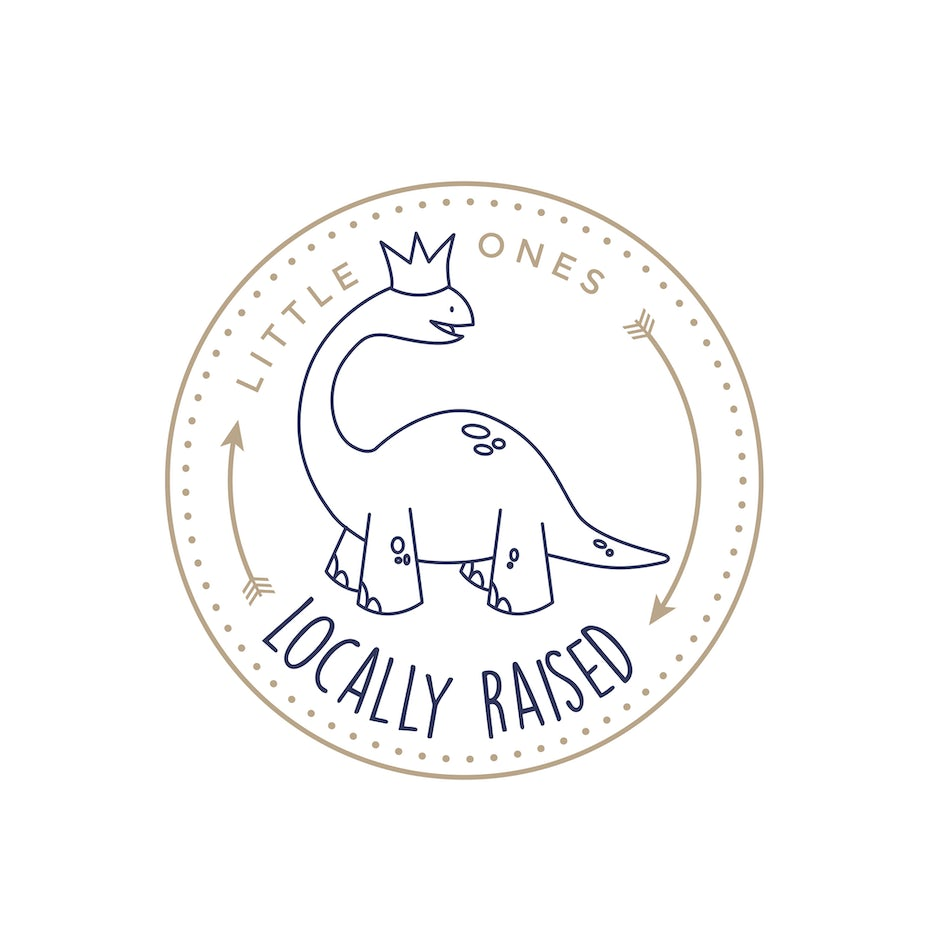 dinosaur wearing crown logo