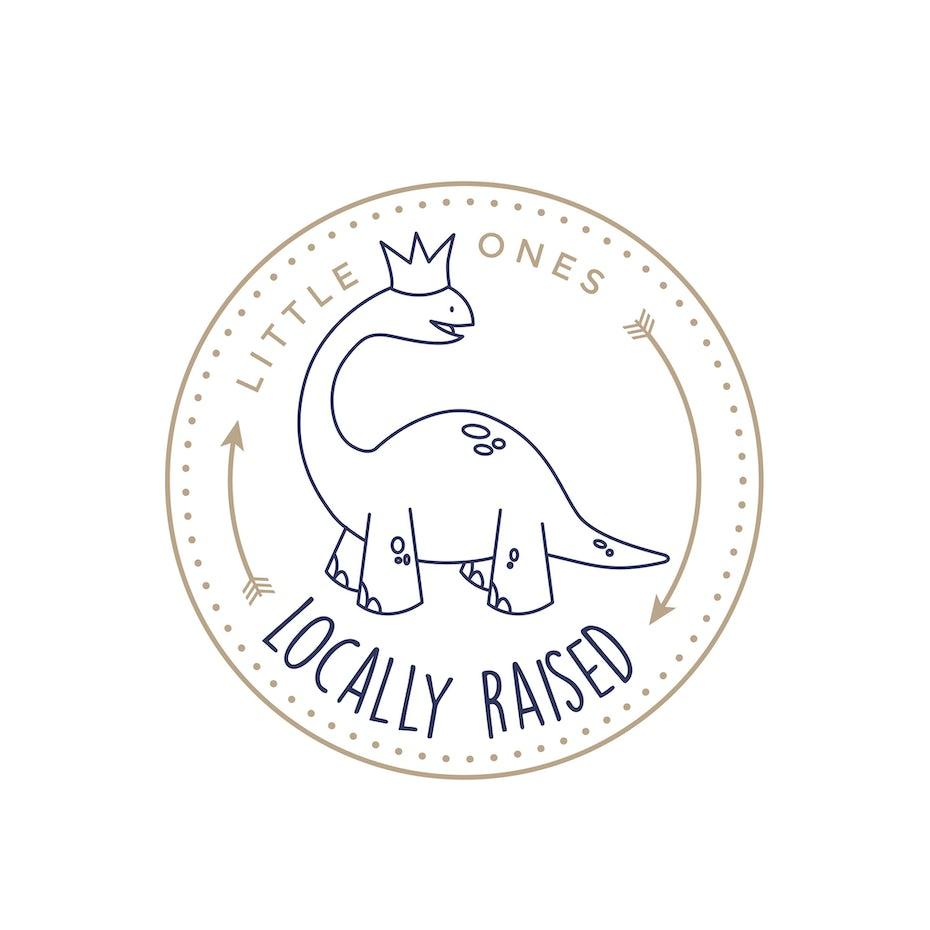 dinosaur wearing crown logo