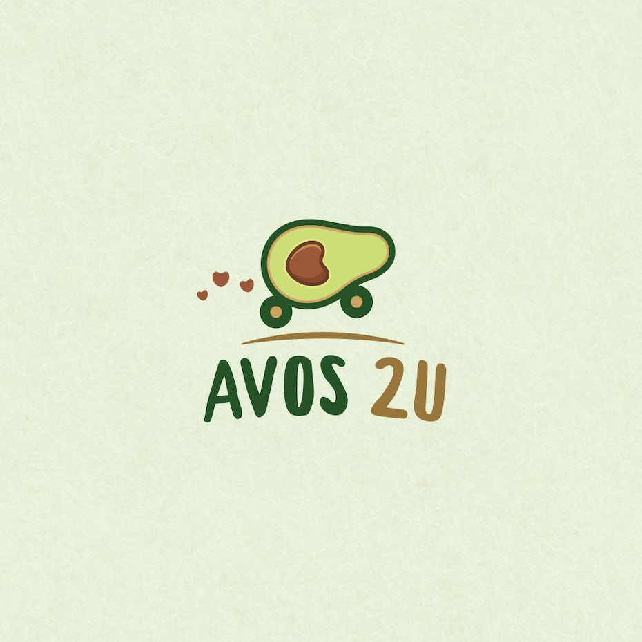 avocado logo with avocado in wheels