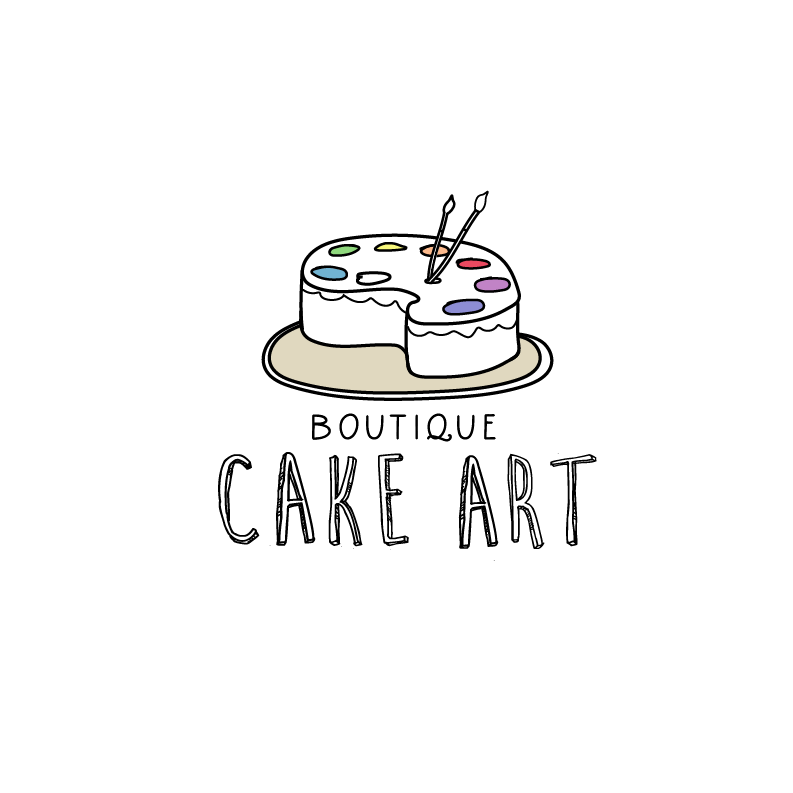 Rainbow logo design for a cake bakery