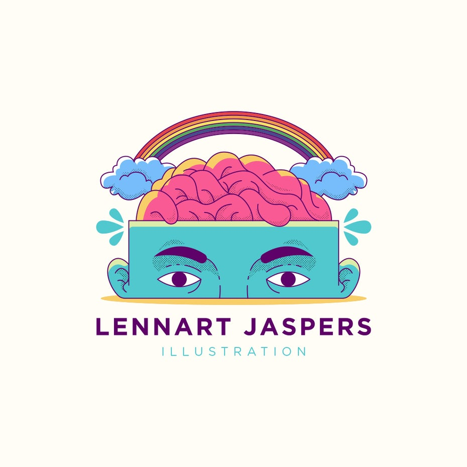 Rainbow logo design for an illustrator