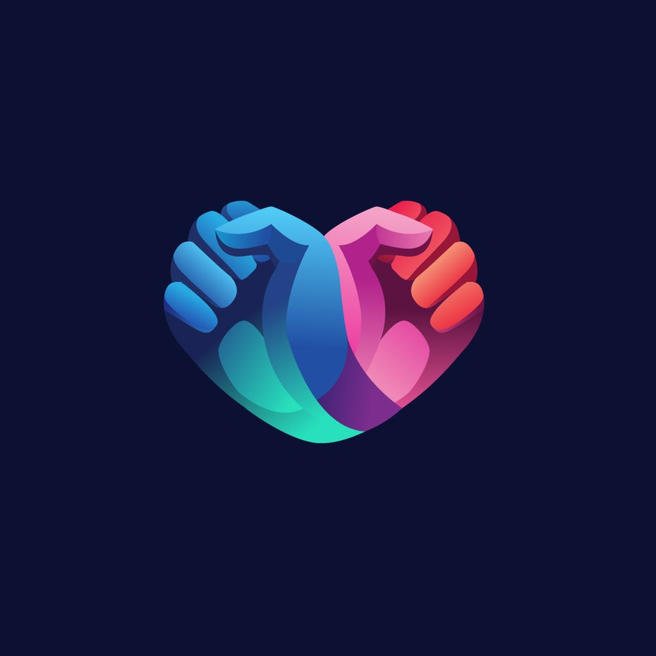 Rainbow gradient logo design to promote voting
