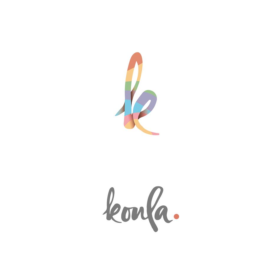 Semiflat rainbow logo design