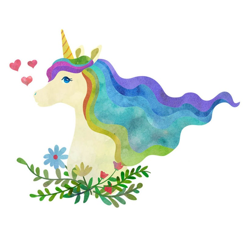 Unicorn rainbow logo design