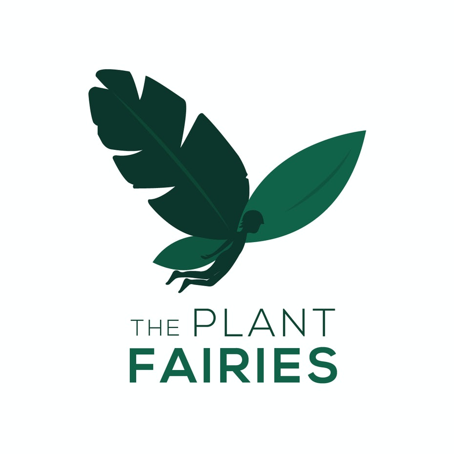 "silhouette of a fairy with a leaf for one of its wings and the text ""The Plant Fairies"""