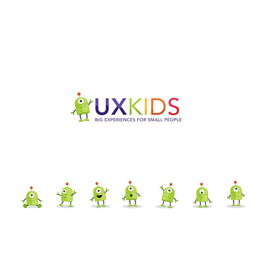 ux kids alien logo