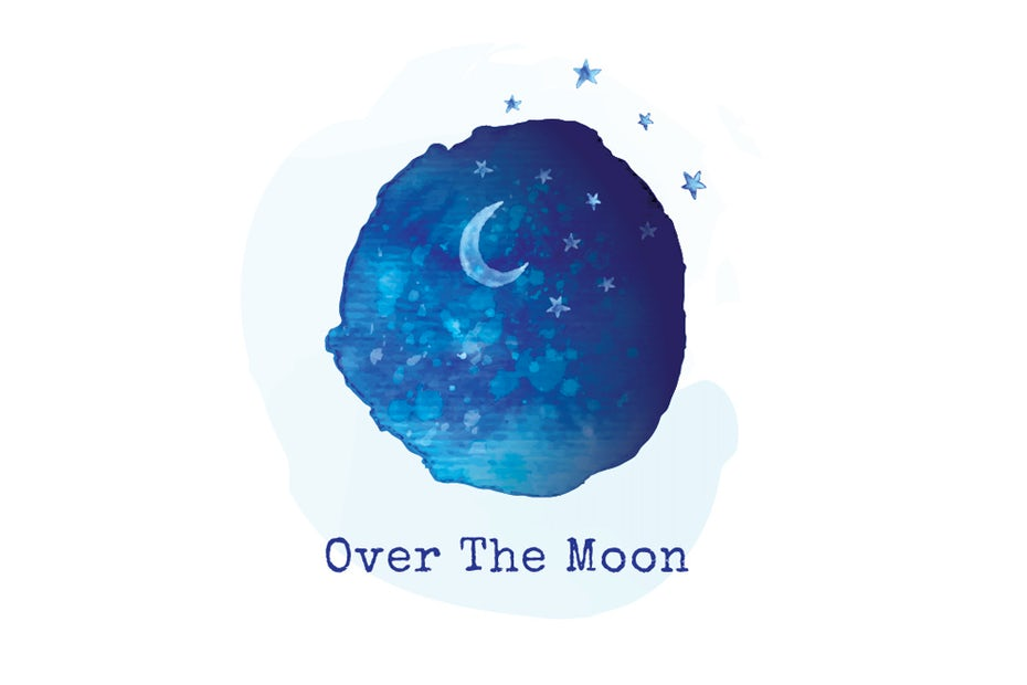 moon and night sky logo