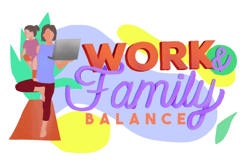 Work and family balance illustration