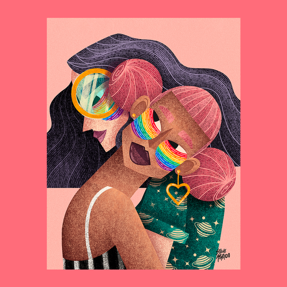 Gay pride illustration