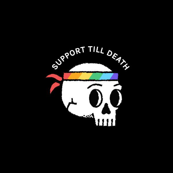 Gay pride skull logo