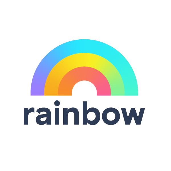 Rainbow gradient logo design