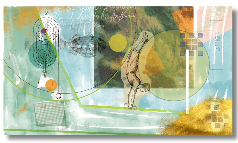 Illustrated graphic art