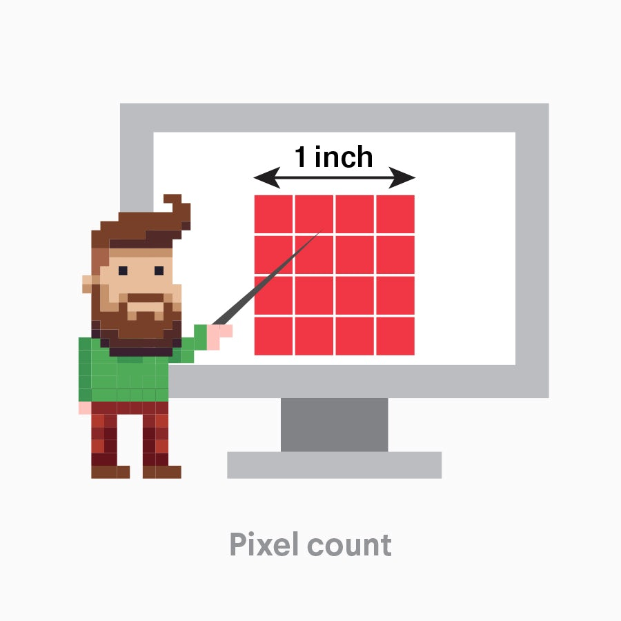 An image demonstrating image dimension by pixel count