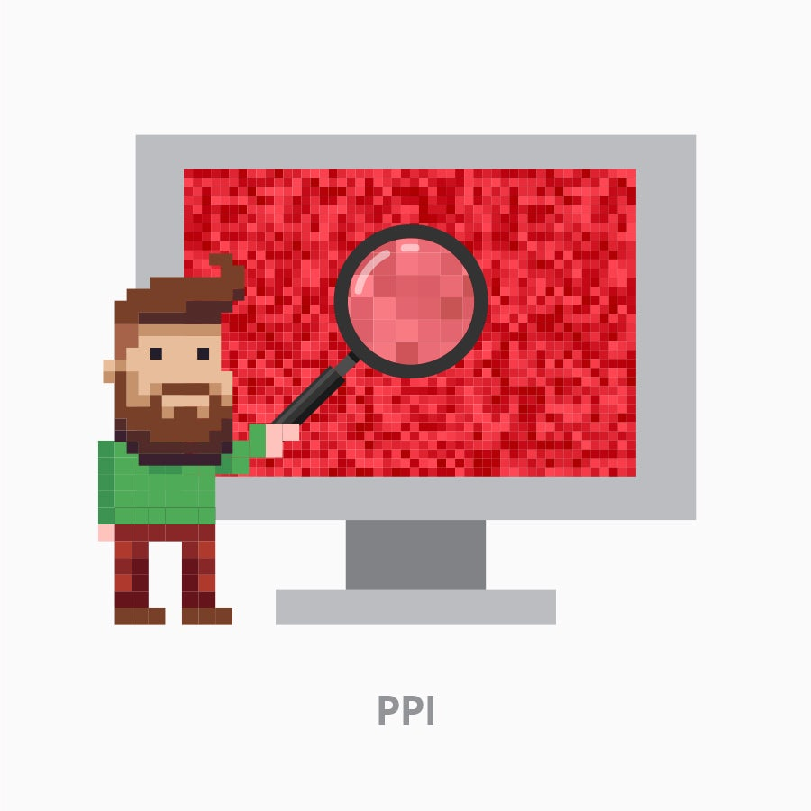 An image demonstrating pixel density