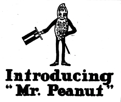 Origin of Mr. Peanut from Planters
