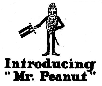 Origin of Mr. Peanut from Planters