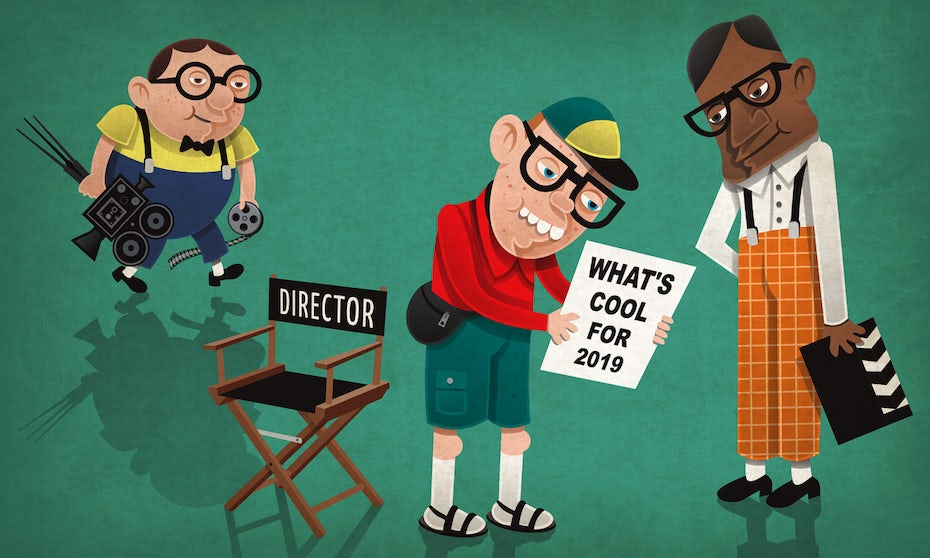 illustration of director and camera people