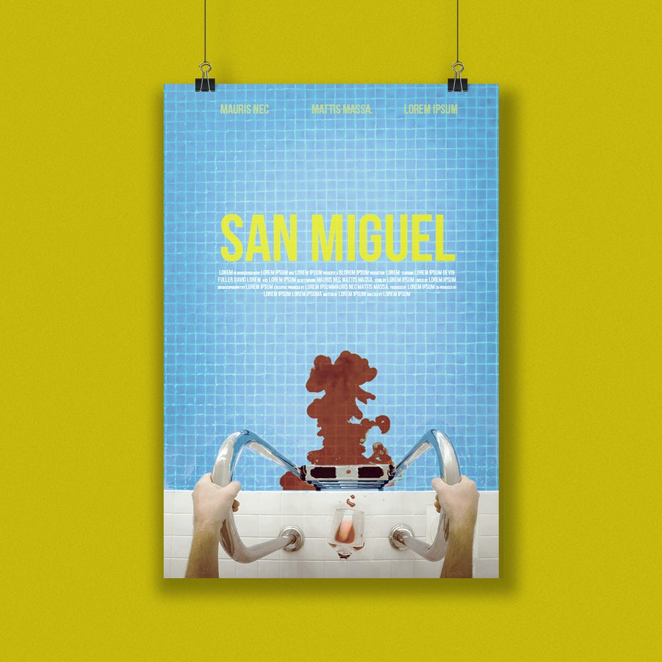 San Miguel movie poster design