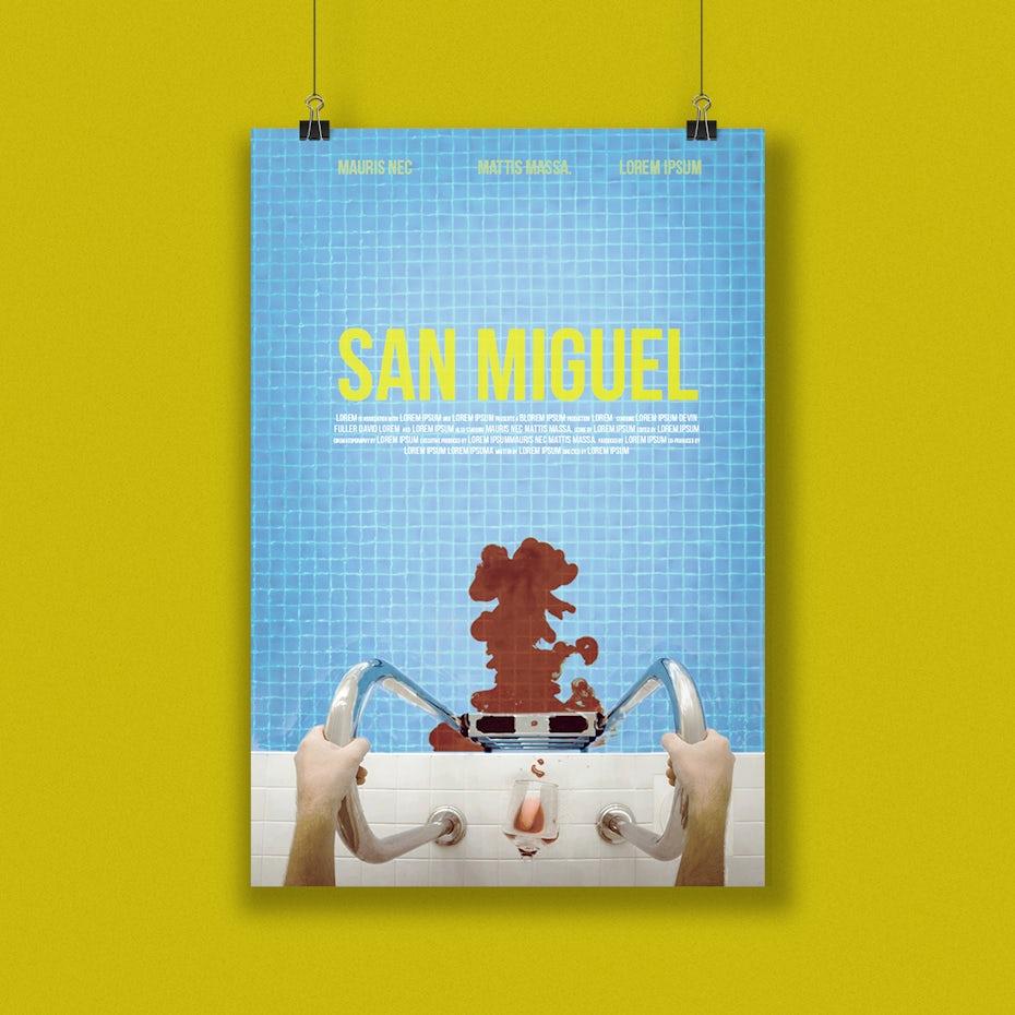 San Miguel movie poster design