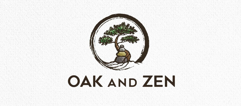 bonsai logo with stones