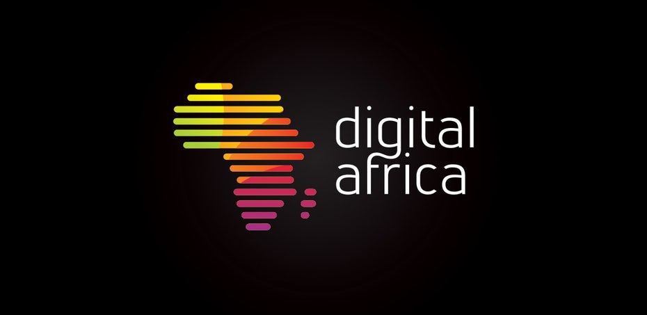 red orange and yellow gradient logo in shape of africa