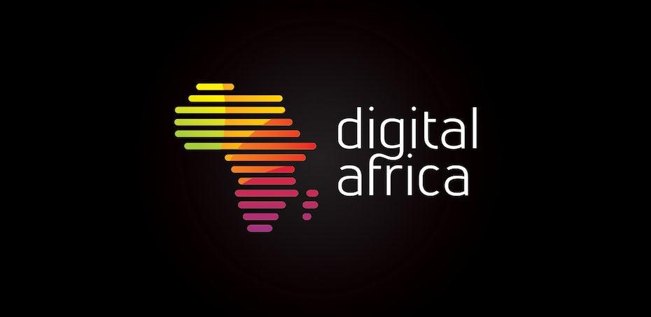 красный оранжевый и желтый градиент логотип в форме Африки