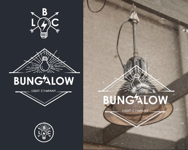 bungalow light bulb logo