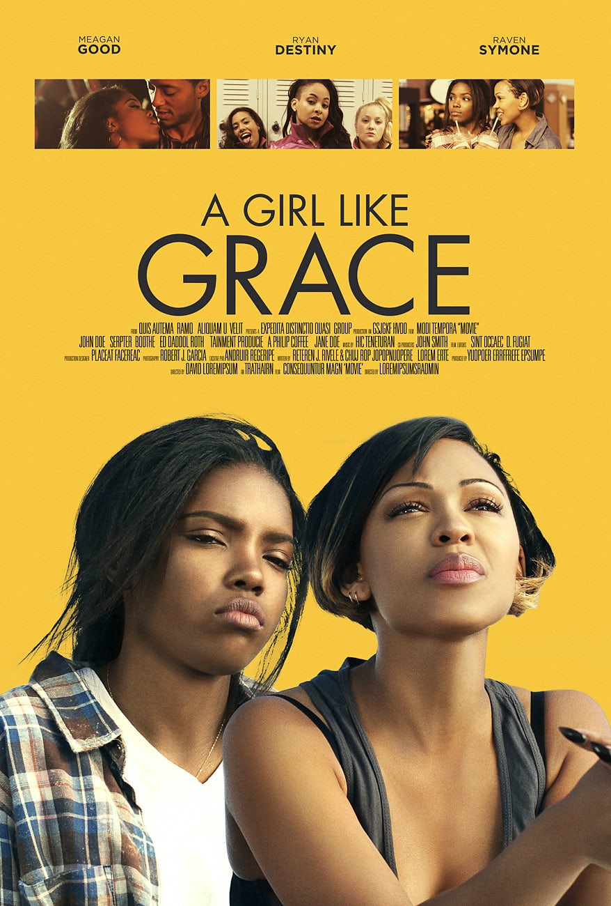 yellow movie poster showing two young women, one looking upward and one looking down