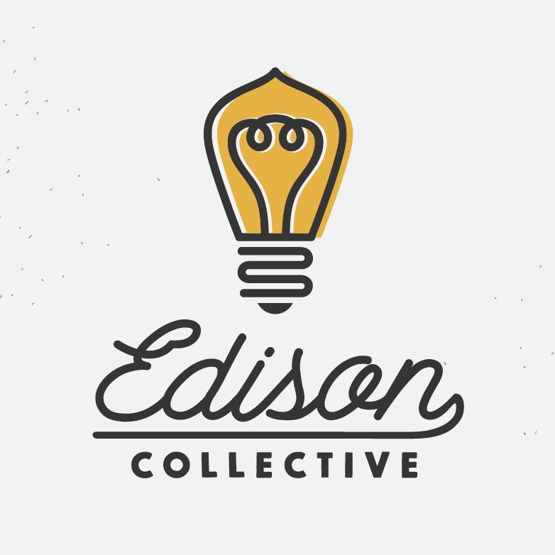 stylized edison light bulb