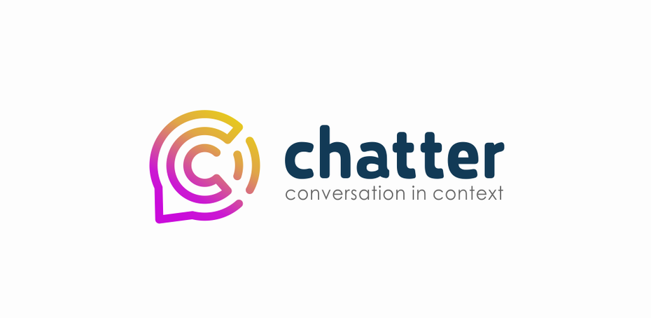 "round logo of a letter ""c"" within a speech bubble"
