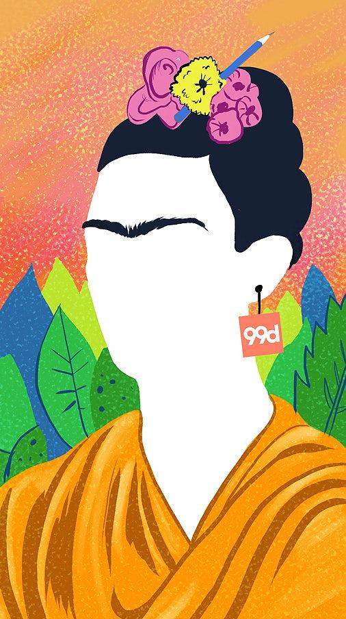 Snapchat Frida Kahlo illustration