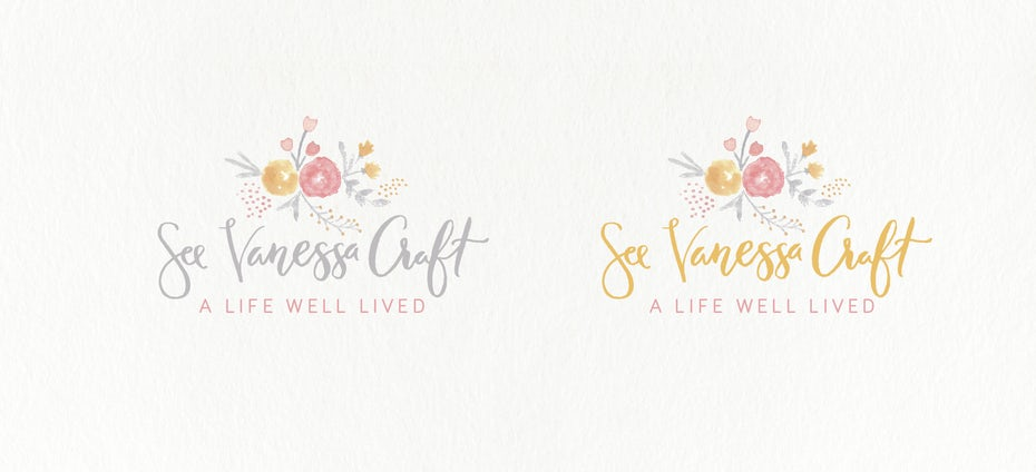 watercolor flower logo