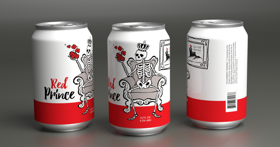 Skeleton can label for Red Prince
