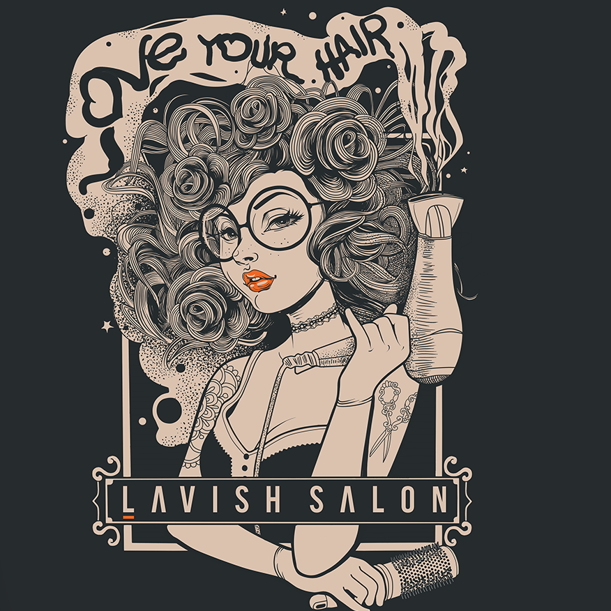 Love your hair salon t shirt design
