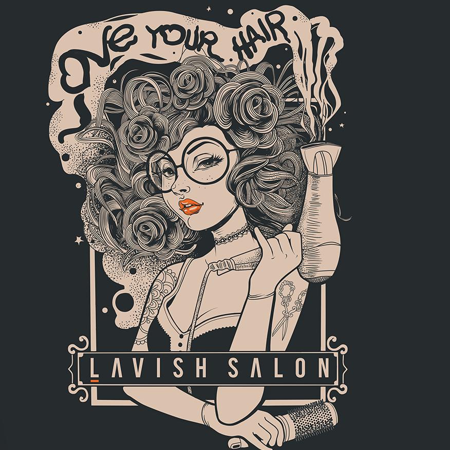 Love your hair salon t shirt design