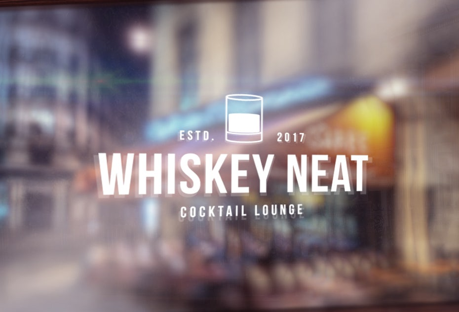 circular logo showing a simple line image of whiskey in a glass