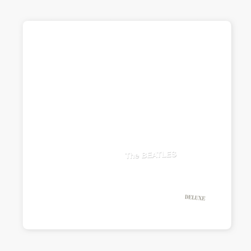 La portada del álbum blanco