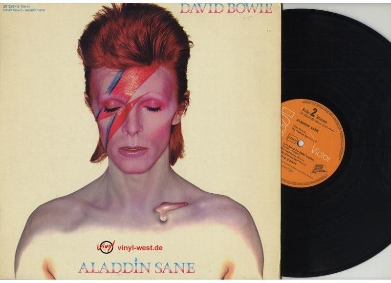 Portada de David Bowie Aladdin Sane