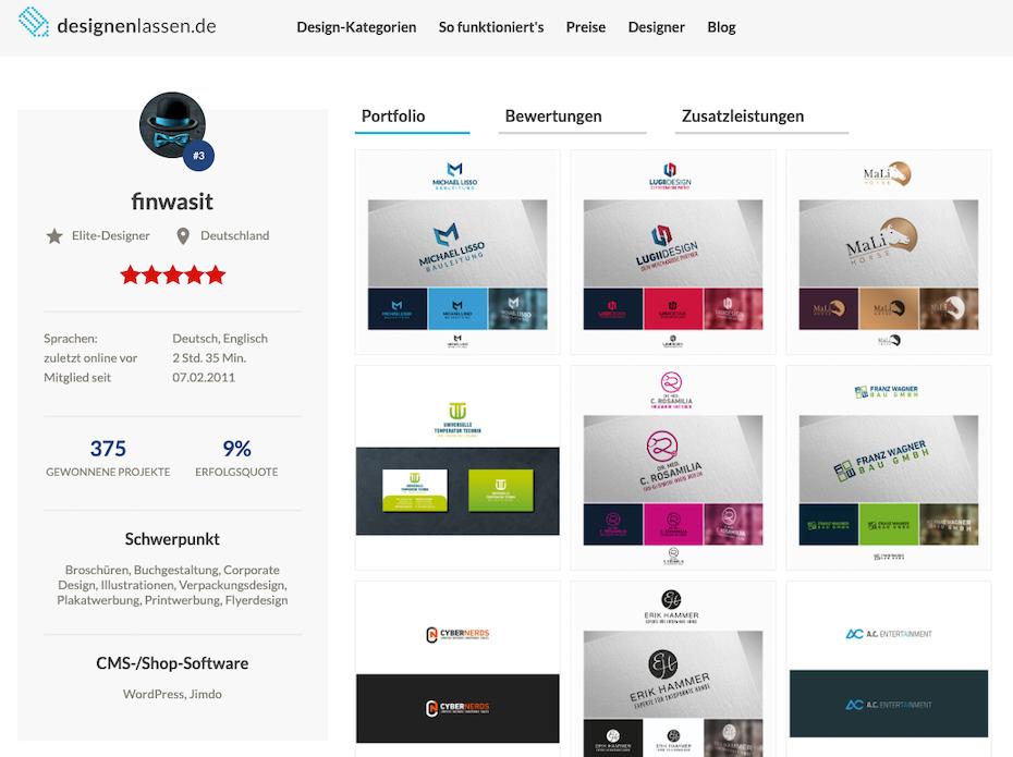 Designerprofil bei designenlassen.de