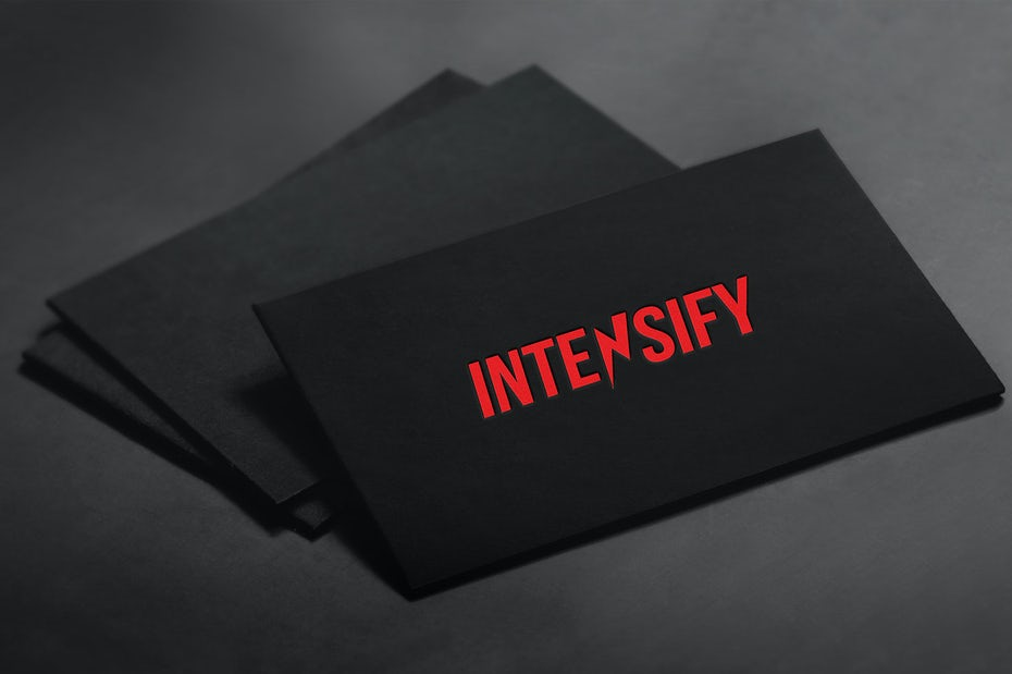 Intensify logo design