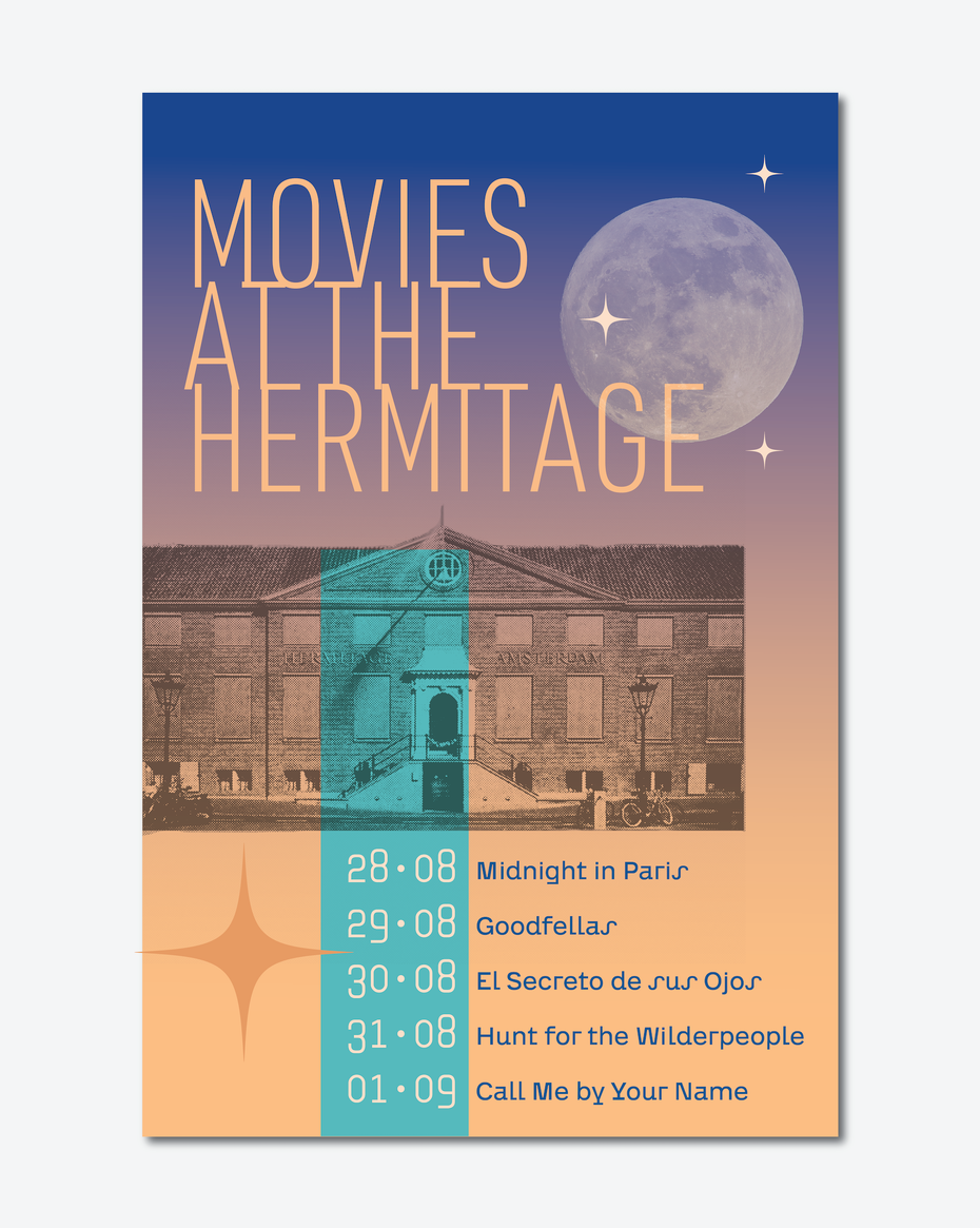 Outdoor film festival poster