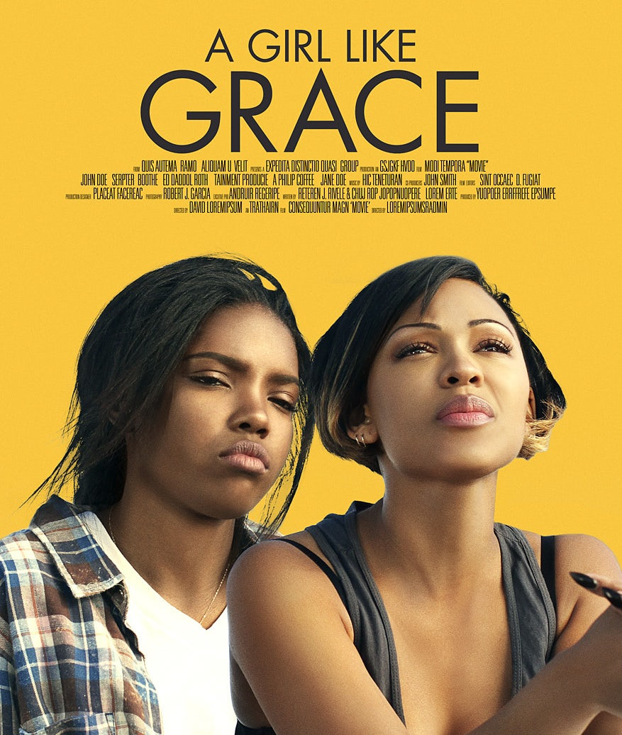 a girl like grace poster design