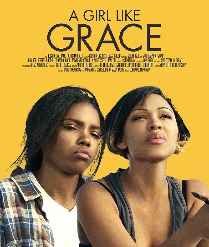 a girl like grace poster design