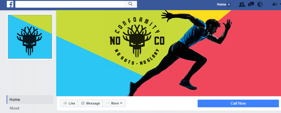 Colorful facebook avatar and cover design