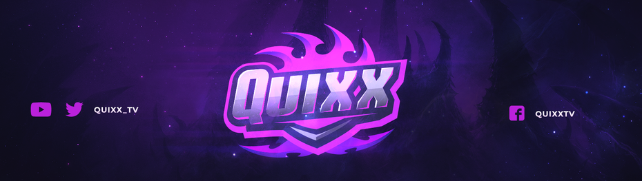 Purple glowing twitch banner design