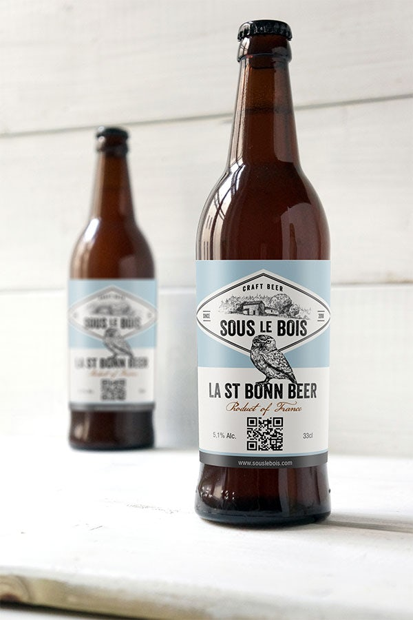 Sous le Bois beer label design