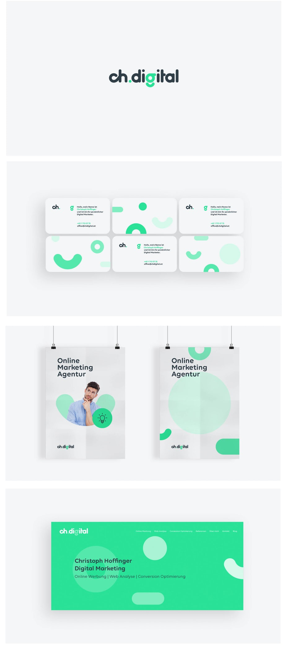 versatile green logo design for a tech company